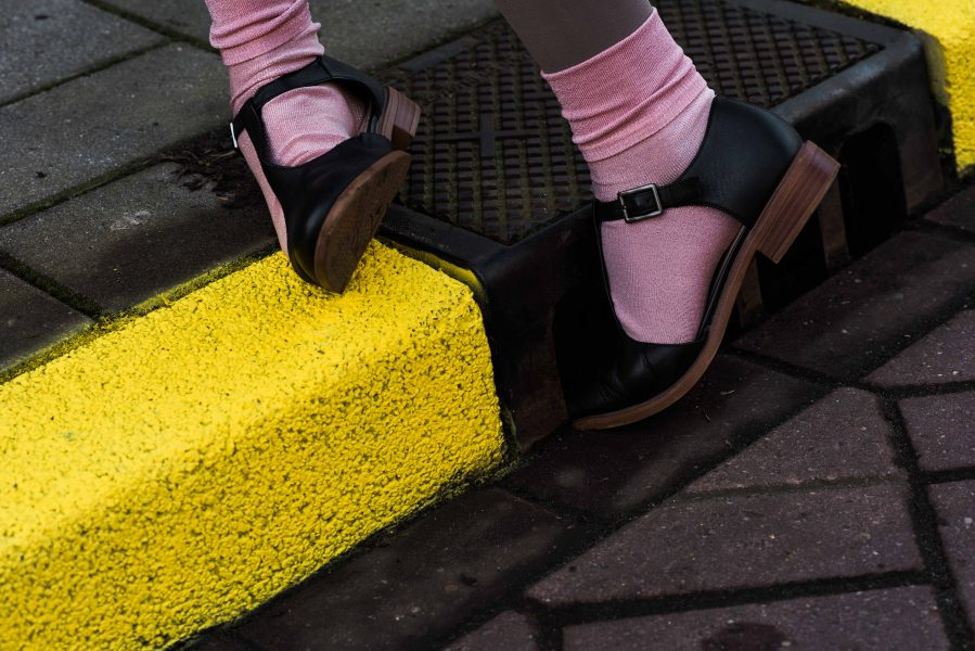shoes, socks, pink, yellow, street, curb, trip, tripping, fall, time, perception, Amsterdam, netherlands, Dutch, photography, photo series