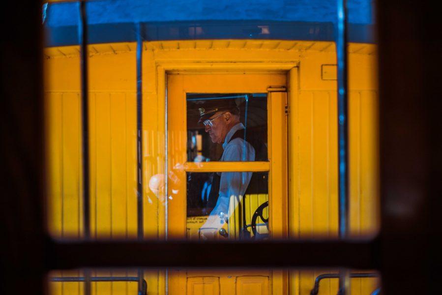 Michelia Kramer Photography, America, USA Photography, Amsterdam Photographer, Netherlands, silveton, colorado, train, conductor, yellow